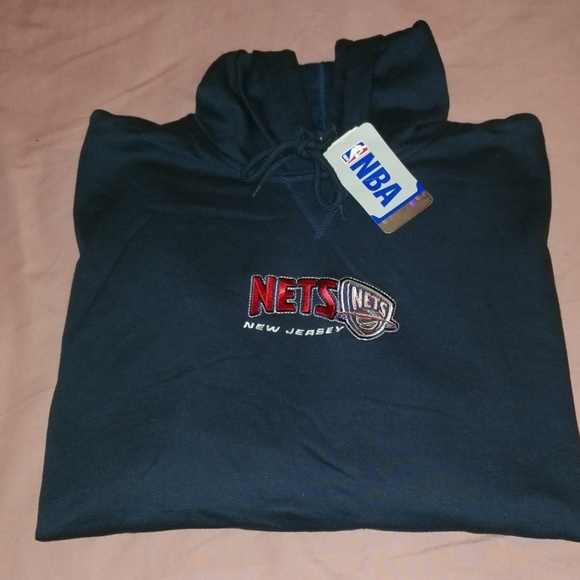 more photos b0ae9 70bbb New Jersey Nets Sweatshirt Brand New Navy NWT